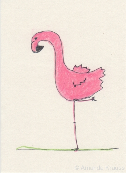 Flamingo Winging It